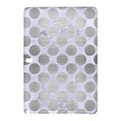 Circles2 White Marble & Silver Brushed Metal (r) Samsung Galaxy Tab Pro 12 2 Hardshell Case
