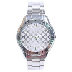 Circles2 White Marble & Silver Brushed Metal Stainless Steel Analogue Watch by trendistuff
