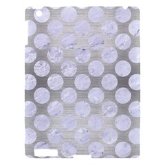Circles2 White Marble & Silver Brushed Metal Apple Ipad 3/4 Hardshell Case