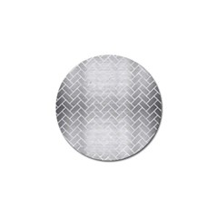 Brick2 White Marble & Silver Brushed Metal Golf Ball Marker (10 Pack) by trendistuff