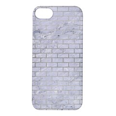 Brick1 White Marble & Silver Brushed Metal (r) Apple Iphone 5s/ Se Hardshell Case
