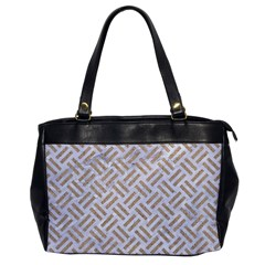 Woven2 White Marble & Sand (r) Office Handbags by trendistuff
