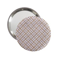 Woven2 White Marble & Sand 2 25  Handbag Mirrors by trendistuff