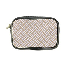Woven2 White Marble & Sand Coin Purse by trendistuff