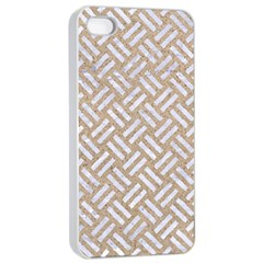 Woven2 White Marble & Sand Apple Iphone 4/4s Seamless Case (white) by trendistuff