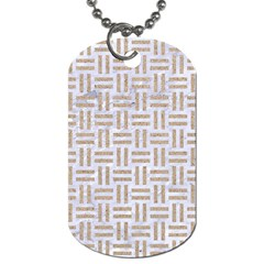 Woven1 White Marble & Sand (r)woven1 White Marble & Sand (r) Dog Tag (one Side) by trendistuff