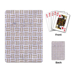 Woven1 White Marble & Sand (r)woven1 White Marble & Sand (r) Playing Card by trendistuff