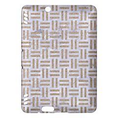 Woven1 White Marble & Sand (r)woven1 White Marble & Sand (r) Kindle Fire Hdx Hardshell Case by trendistuff