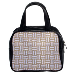 Woven1 White Marble & Sand Classic Handbags (2 Sides) by trendistuff