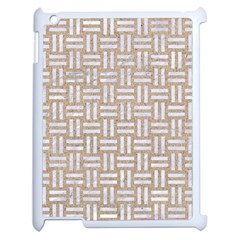 Woven1 White Marble & Sand Apple Ipad 2 Case (white) by trendistuff