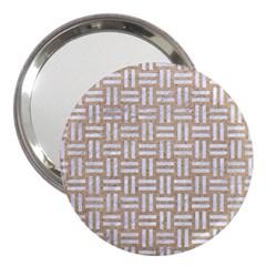 Woven1 White Marble & Sand 3  Handbag Mirrors by trendistuff