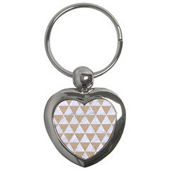 Triangle3 White Marble & Sand Key Chains (heart)  by trendistuff