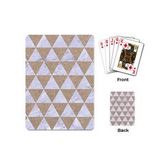 Triangle3 White Marble & Sand Playing Cards (mini)  by trendistuff