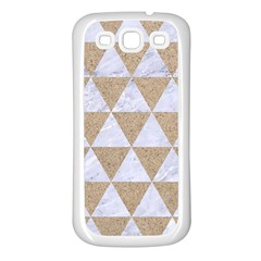 Triangle3 White Marble & Sand Samsung Galaxy S3 Back Case (white) by trendistuff