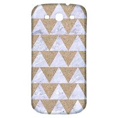 Triangle2 White Marble & Sand Samsung Galaxy S3 S Iii Classic Hardshell Back Case by trendistuff