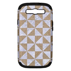 Triangle1 White Marble & Sand Samsung Galaxy S Iii Hardshell Case (pc+silicone) by trendistuff
