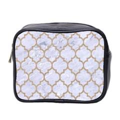 Tile1 White Marble & Sand (r) Mini Toiletries Bag 2 Side by trendistuff