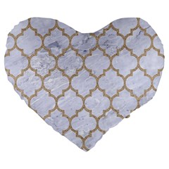 Tile1 White Marble & Sand (r) Large 19  Premium Heart Shape Cushions by trendistuff