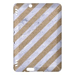 Stripes3 White Marble & Sand (r) Kindle Fire Hdx Hardshell Case by trendistuff