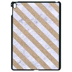 Stripes3 White Marble & Sand Apple Ipad Pro 9 7   Black Seamless Case by trendistuff