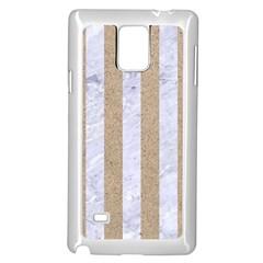 Stripes1 White Marble & Sand Samsung Galaxy Note 4 Case (white) by trendistuff