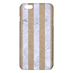 Stripes1 White Marble & Sand Iphone 6 Plus/6s Plus Tpu Case by trendistuff