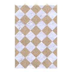 Square2 White Marble & Sand Shower Curtain 48  X 72  (small)  by trendistuff