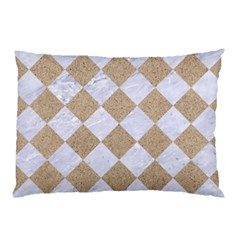 Square2 White Marble & Sand Pillow Case (two Sides) by trendistuff