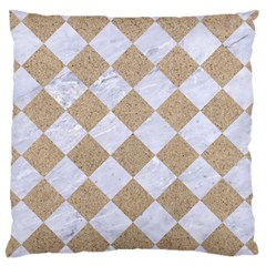 Square2 White Marble & Sand Large Cushion Case (two Sides) by trendistuff