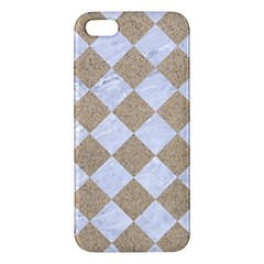 Square2 White Marble & Sand Iphone 5s/ Se Premium Hardshell Case by trendistuff