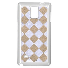 Square2 White Marble & Sand Samsung Galaxy Note 4 Case (white) by trendistuff