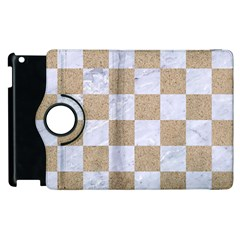 Square1 White Marble & Sand Apple Ipad 3/4 Flip 360 Case by trendistuff
