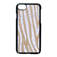 Skin4 White Marble & Sand (r) Apple Iphone 8 Seamless Case (black) by trendistuff