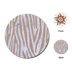 Skin4 White Marble & Sand Playing Cards (round)  by trendistuff