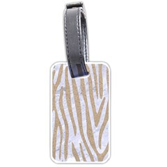 Skin4 White Marble & Sand Luggage Tags (one Side)  by trendistuff