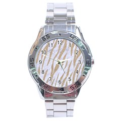 Skin3 White Marble & Sand (r) Stainless Steel Analogue Watch by trendistuff