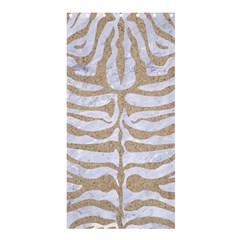 Skin2 White Marble & Sand (r) Shower Curtain 36  X 72  (stall)  by trendistuff