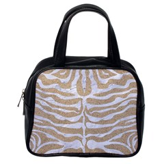 Skin2 White Marble & Sand Classic Handbags (one Side) by trendistuff