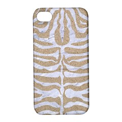 Skin2 White Marble & Sand Apple Iphone 4/4s Hardshell Case With Stand by trendistuff