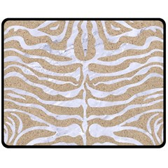 Skin2 White Marble & Sand Double Sided Fleece Blanket (medium)  by trendistuff
