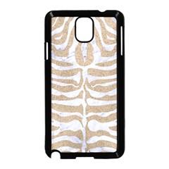 Skin2 White Marble & Sand Samsung Galaxy Note 3 Neo Hardshell Case (black) by trendistuff