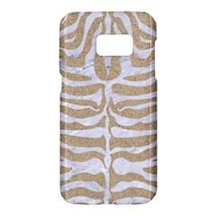 Skin2 White Marble & Sand Samsung Galaxy S7 Hardshell Case  by trendistuff