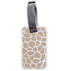 Skin1 White Marble & Sand (r) Luggage Tags (two Sides) by trendistuff