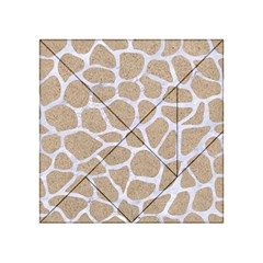 Skin1 White Marble & Sand (r) Acrylic Tangram Puzzle (4  X 4 ) by trendistuff