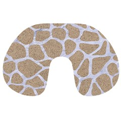 Skin1 White Marble & Sand (r) Travel Neck Pillows by trendistuff