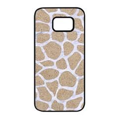 Skin1 White Marble & Sand (r) Samsung Galaxy S7 Edge Black Seamless Case by trendistuff