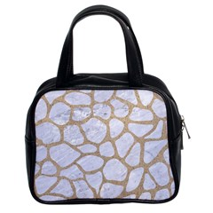 Skin1 White Marble & Sand Classic Handbags (2 Sides) by trendistuff