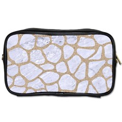 Skin1 White Marble & Sand Toiletries Bags 2 Side by trendistuff
