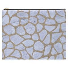 Skin1 White Marble & Sand Cosmetic Bag (xxxl)  by trendistuff