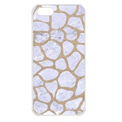 Skin1 White Marble & Sand Apple Iphone 5 Seamless Case (white) by trendistuff